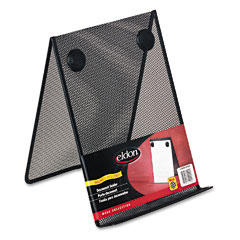 Rolodex - nestable wire mesh freestanding desktop copyholder, stainless steel, black, sold as 1 ea