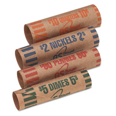 Royal sovereign - preformed tubular coin wrappers, 54 each pennies/nickels/dimes/quarters, 216/box, sold as 1 bx