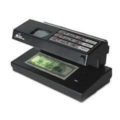 Royal sovereign - portable 4-way counterfeit detector, uv, fluorescent, magnetic, magnifier, sold as 1 ea