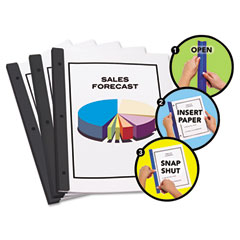 Redi-Tag 13008 Redi-Bind Binder Bars, 50-Sheet Capacity, Black, 12/Pack
