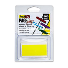 Redi-Tag RTG20012 Removable/Reusable Page Flags, Yellow, 300/Pack