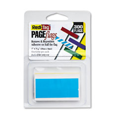 Redi-Tag RTG20032 Removable/Reusable Page Flags, Blue, 300/Pack