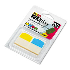 Redi-Tag 33148 Write-On Self-Stick Index Tabs/Flags, 1 1/16 Inch, 4 Colors, 48/Pack