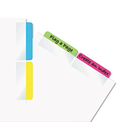 Redi-Tag 33248 Write-On Self-Stick Index Tabs/Flags, 2 X 11/16, 4 Colors, 48/Pack