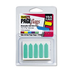 Redi-Tag 72001 Mini Arrow Page Flags, Blue/Mint/Purple/Red/Yellow, 154 Flags/Pack