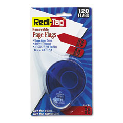 "Redi-Tag 81054 Arrow Message Page Flags In Dispenser, ""Sign Here"", Red, 120/Dispenser"