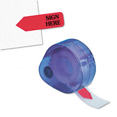 """Redi-Tag 91002 Message Right Arrow Flag Refills, """"Sign Here"""", Red, 6 Rolls Of 120 Flags/Box"""