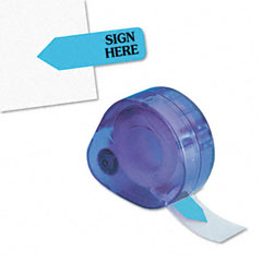 "Redi-Tag RTG91003 Message Right Arrow Flag Refills, ""Sign Here"", Blue, 6 Rolls of 120 Flags"