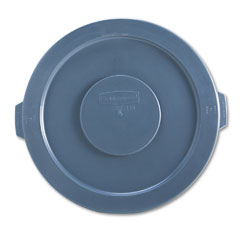 Rubbermaid commercial - round brute lid for 32-gallon waste containers, 22 1/4-inch diameter, gray, sold as 1 ea