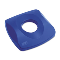 RCP 269100BE Untouchable Recycling Tops, 16 X 3 1/4, Blue