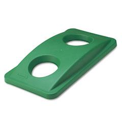 RCP 269288GN Slim Jim Bottle & Can Recycling Top, 20 3/8 X 11 3/8 X 2 3/4, Green