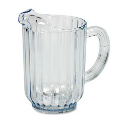 RCP 333800CR Bouncer Plastic Pitcher, 60-Oz., Clear
