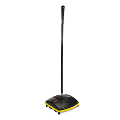 Rubbermaid commercial - floor & carpet sweeper, plastic bristles, 44-inch handle, black, sold as 1 ea