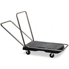 Rubbermaid commercial - utility-duty home/office cart, 250 lb capacity, 20-7/8 x 31-3/4 platform, bk, sold as 1 ea