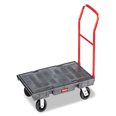 Rubbermaid commercial - heavy-duty platform truck cart, 1000lb capacity, 24 x 48 platform, black, sold as 1 ea