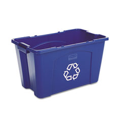 RCP 571873BE Stacking Recycle Bin, Rectangular, Polyethylene, 18 Gal, Blue