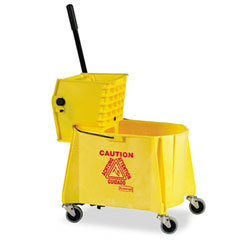 RCP 618688YW Wavebrake 44-Quart Bucket/Sideward Pressure Wringer Combination, Yellow