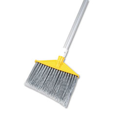 "RCP 6385-GRA Angled Large Brooms, Poly Bristles, 48-7/8"" Aluminum Handle, Silver/Gray"