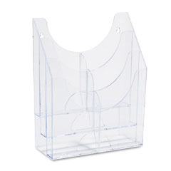 Rubbermaid - optimizers multipurpose six-pocket organizer, 9-1/2w x 4d x 12h, clear, sold as 1 ea