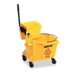 RCP 758088YW Wavebrake 35-Quart Bucket/Wringer Combinations, Yellow
