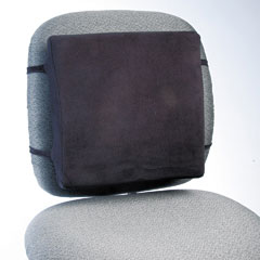 Rubbermaid commercial - back perch w/fleece cover, 13w x 2-3/4d x 12-1/2h, black, sold as 1 ea