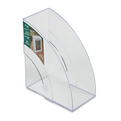 Rubbermaid - optimizers deluxe plastic magazine rack, 5 1/4 x 9 x 11 1/8, clear, sold as 1 ea