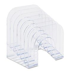 Rubbermaid - six-tier jumbo incline sorter, plastic, 9 3/8 x 10 1/2 x 7 3/8, clear, sold as 1 ea