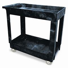 RCP 9T6600BLA Service/Utility Cart, 2-Shelf, 16W X 34D X 31-1/4H, Black