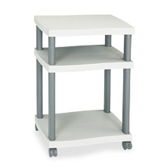 Safco 1860GR Wave Design Printer Stand, 3-Shelf, 20W X 17-1/2D X 29-1/4H, Charcoal Gray