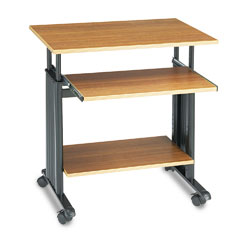 "Safco 1925MO 28"" Wide Adjustable Height Workstation, 22D X 34H, Oak"