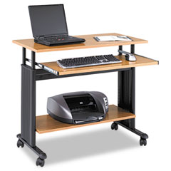 "Safco SAF1926MO 35"" Wide Adjustable Height Workstation, 22d x 34h, Oak"