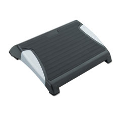 Safco 2120BL Restase Adjustable Footrest, Black W/Silver Accents.