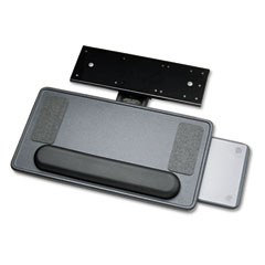 Safco 2139 Ergo-Comfort Premium Keyboard/Mouse Platform, 21-3/4 X 11-3/4, Black Granite