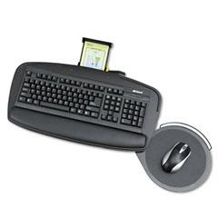 Safco 2143BL Premier Series Keyboard Platforms, Black