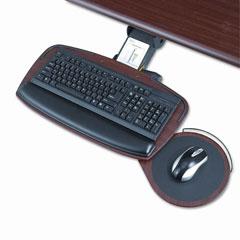 Safco 2143MH Premier Series Keyboard Platforms, Mahogany