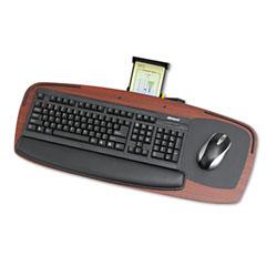 Safco 2145MH Premier Series Keyboard Platforms, Mahogany