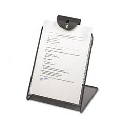 Safco - onyx mesh copyholder w/steel ball fastener, black, sold as 1 ea