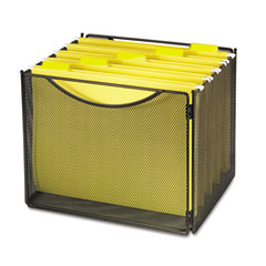 Safco 2170BL Desktop File Storage Box, Steel Mesh, 12-1/2W X 11D X 10H