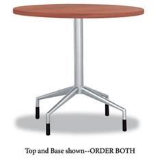 Safco - rsvp series round table top, laminate, 30-inch diameter, cherry, sold as 1 ea