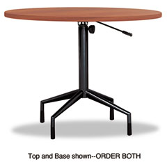 Safco - rsvp series round table top, laminate, 36-inch diameter, cherry, sold as 1 ea