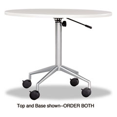Safco - rsvp series round table top, laminate, 36-inch diameter, gray, sold as 1 ea