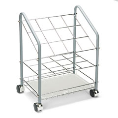 Safco - wire roll/file, 20 compartments, 18-1/3w x 14-1/4d x 23-3/8h, gray, sold as 1 ea