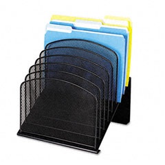 Safco - mesh desk organizer, eight sections, steel, 11 1/4 x 10 7/8 x 13 3/4, black, sold as 1 ea