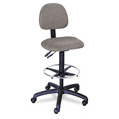 "Safco 3420DG Trenton Multi-Task Swivel Stool, 23-33"" Seat Height, Dark Gray"