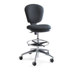 Safco - metro extended height swivel/tilt chair, 22-33-inch seat height, black/fabric, sold as 1 ea