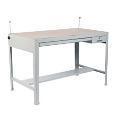 Safco 3962GR Precision Four-Post Drafting Table Base, 56-1/2W X 30-1/2D X 35-1/2H, Gray