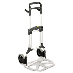 Safco - stow-away heavy duty hand truck, 500lb capacity, 23w x 24d x 50h, aluminum, sold as 1 ea