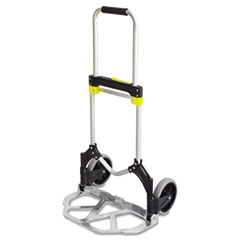 Safco - stow-away medium hand truck, 275lb capacity, 19w x 17 3/4d x 38 3/4h, aluminum, sold as 1 ea
