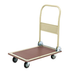 Safco - foldaway platform trucks, 700lb, 18-5/8w x 28-3/4d x 36h, tropic sand/brown, sold as 1 ea