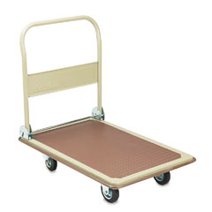 Safco - foldaway platform trucks, 900lb, 24w x 34d x 10-36h, tropic sand/brown, sold as 1 ea